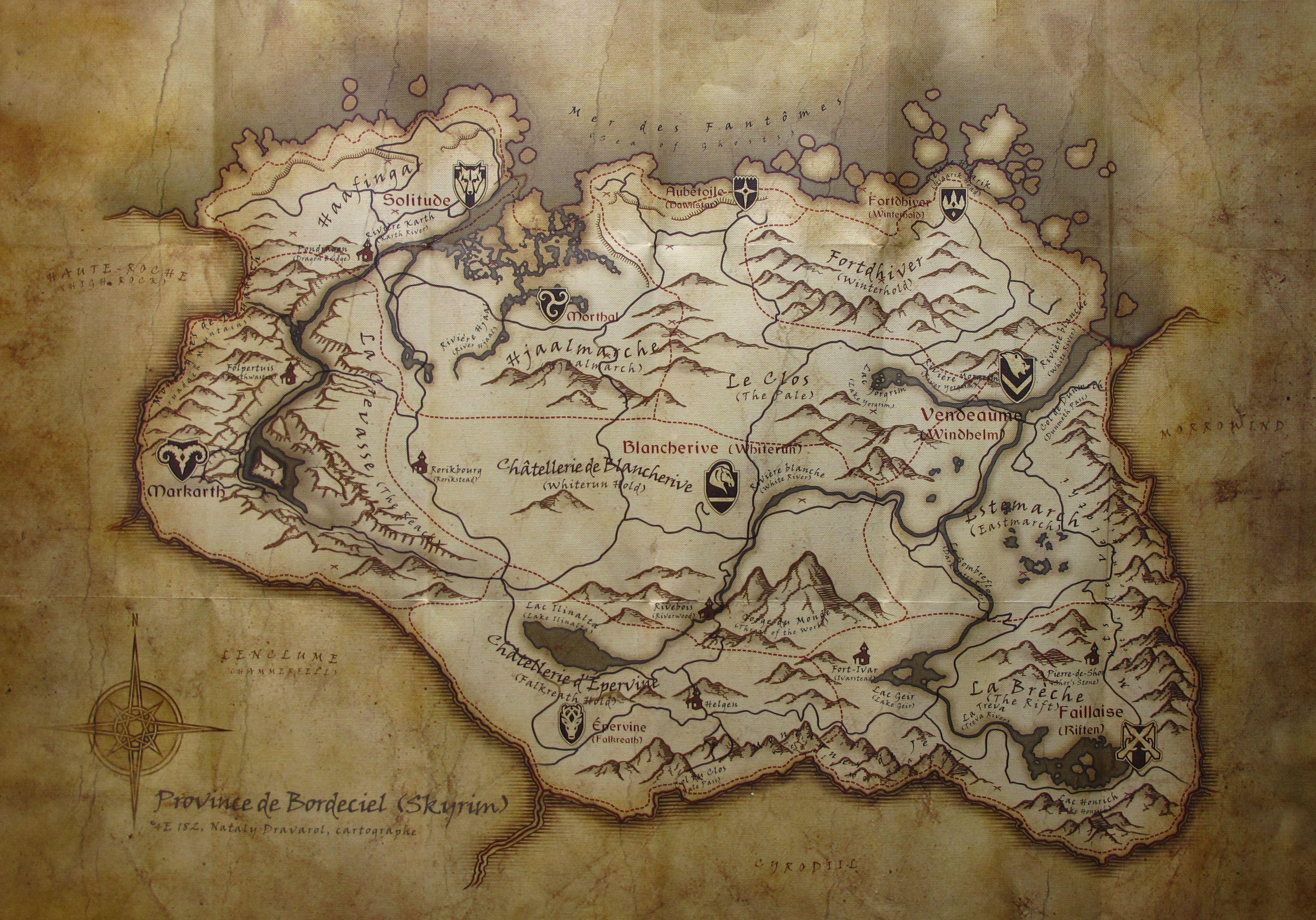 Carte originale en français
